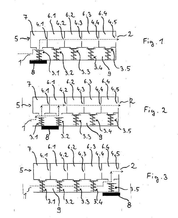 Estructura de una unidad de válvula de gas.