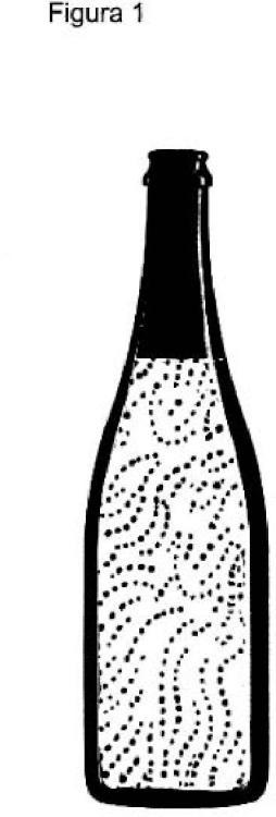 Procedimiento de preparación de cócteles de vino espumoso que contienen oro alimenticio.
