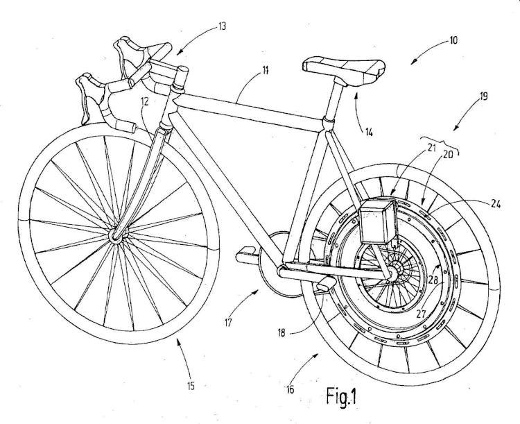 Unidad de accionamiento para bicicletas.