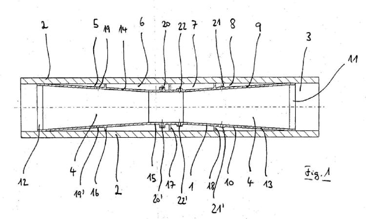 Circuito de refrigerante con amortiguador acústico para un cuerpo tubular que forma una cavidad.