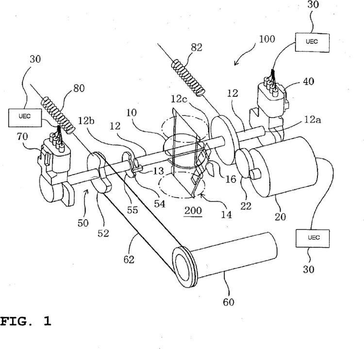 Dispositivo de válvula de mariposa electrónica.