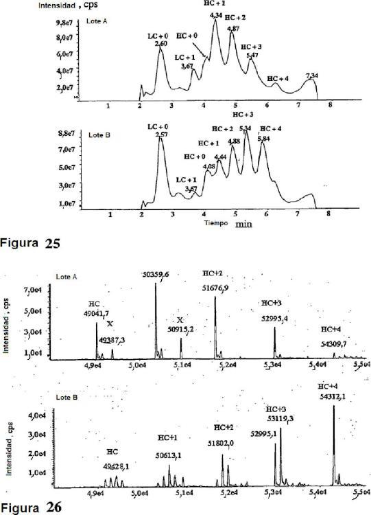 Espectrometría de masas de conjugados de anticuerpos.
