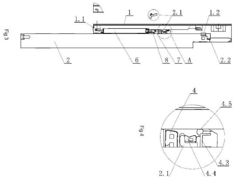 Ilustración 2 de la Galería de ilustraciones de Carril de deslizamiento amortiguador de cajón