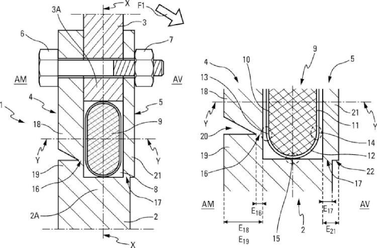 Dispositivo de unión con ruptura pirotécnica.