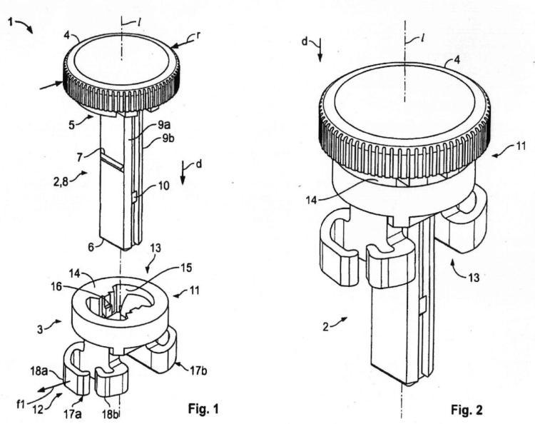 Elemento de enganche con pasador de fijación y método para interconectar dos componentes.