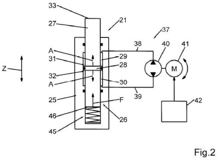 Cojín de estampado hidráulico de una prensa de estampado y método de operación del cojín de estampado hidráulico.
