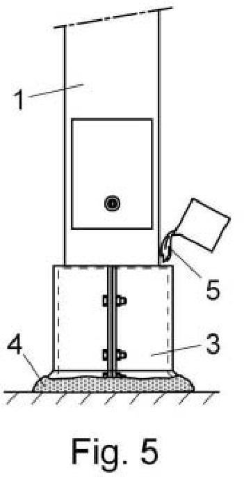Método de reparación y protección de fustes metálicos de mobiliario urbano.