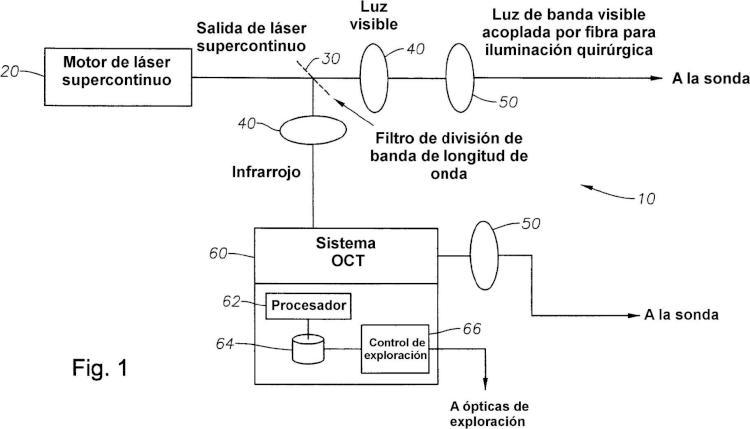 Tomografía de coherencia óptica e iluminación que utiliza una fuente de luz común.