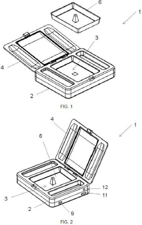 Dispositivo de calentamiento de comida portátil.