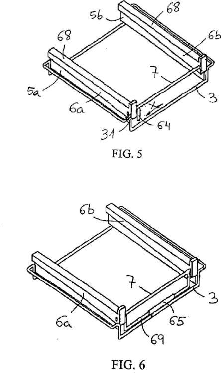 Mecanismo para extraer una bandeja de un horno doméstico.