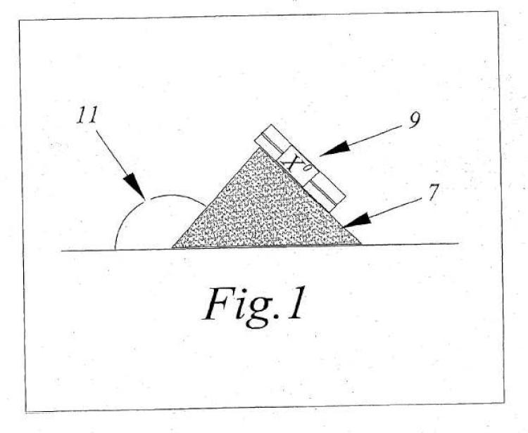 Método y materiales para la construcción de un búnker de arena de un campo de golf.