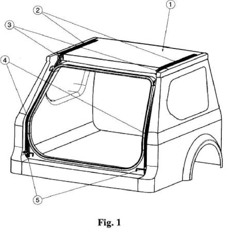 Sistema mecánico de apertura del portón trasero de automóvil.