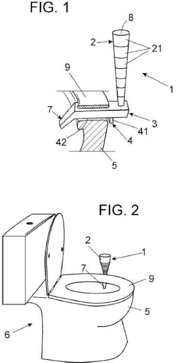 Dispositivo higiénico masculino para orinar.