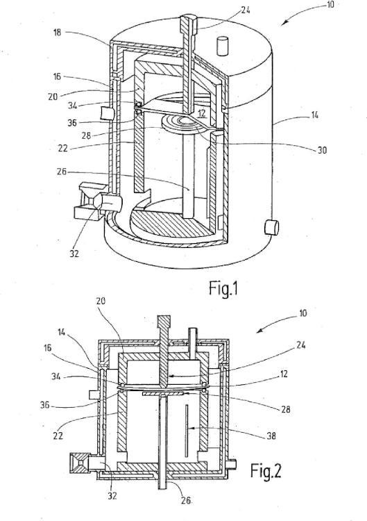Dispositivo de ensayo para la aplicación simultánea de un gas de ensayo y una carga mecánica a una pieza a ensayar en forma de disco, así como procedimiento de ensayo correspondiente.