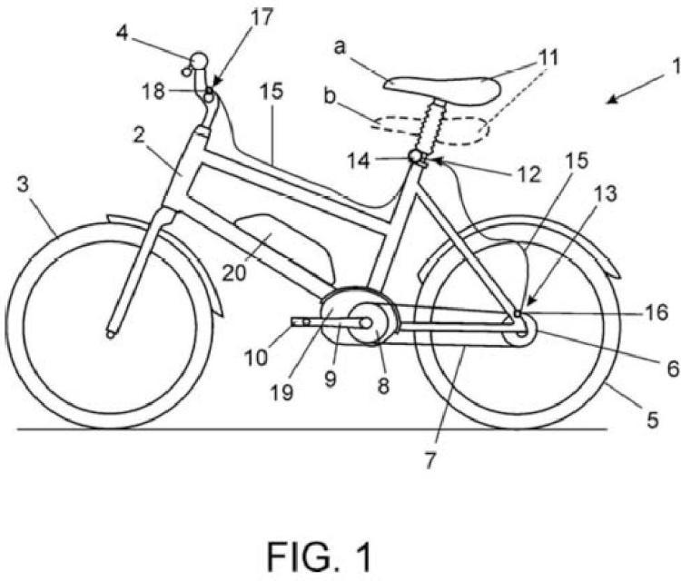 Dispositivo regulador de la altura del sillín para bicicletas eléctricas.