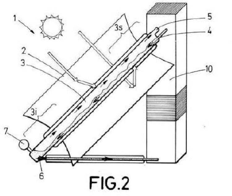 Generador-separador de vapor mediante energía solar.
