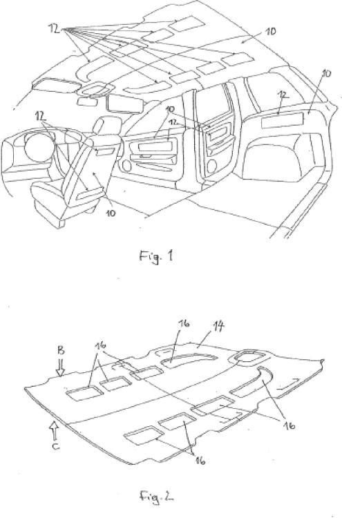 Dispositivo de revestimiento para un automóvil con sistema de iluminación integrado y procedimiento de fabricación.