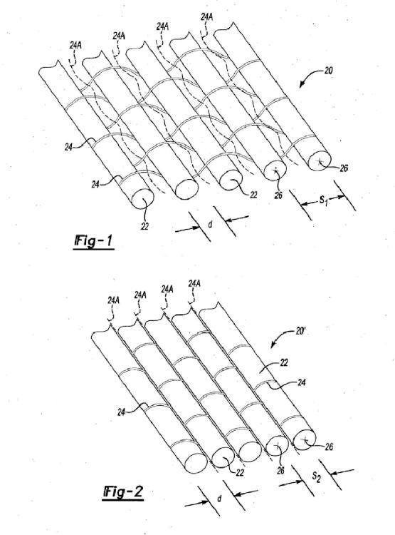 Método de fabricación de un tejido plano que tiene una separación deseada entre los miembros de tensión.