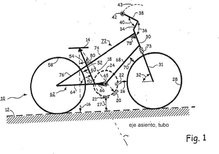 Bicicleta de fácil conducción.