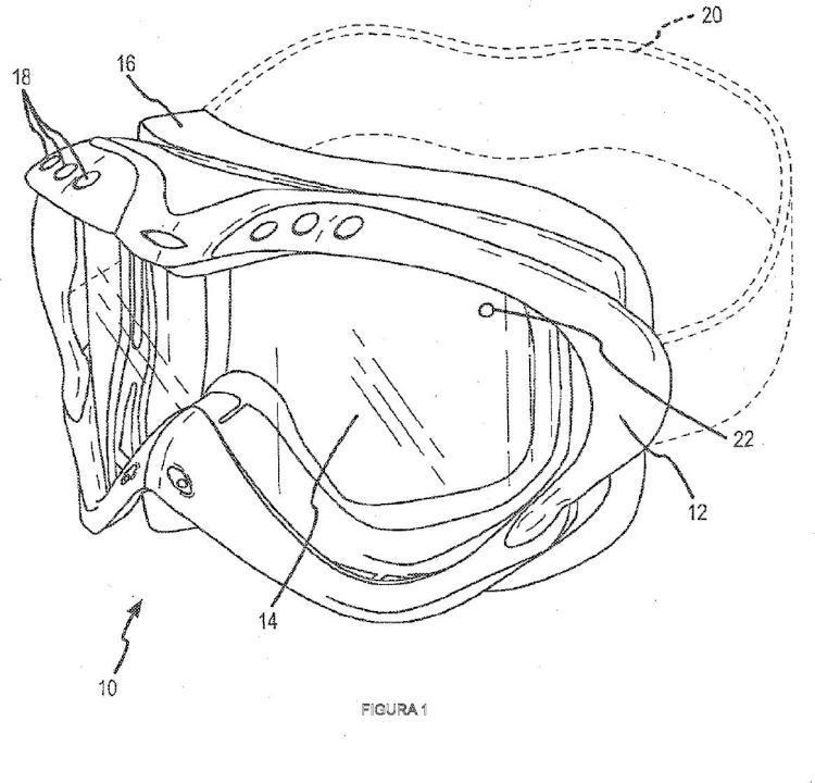 Conjunto de lentes de gafas protectoras térmicas con cámara de ventilación al exterior.