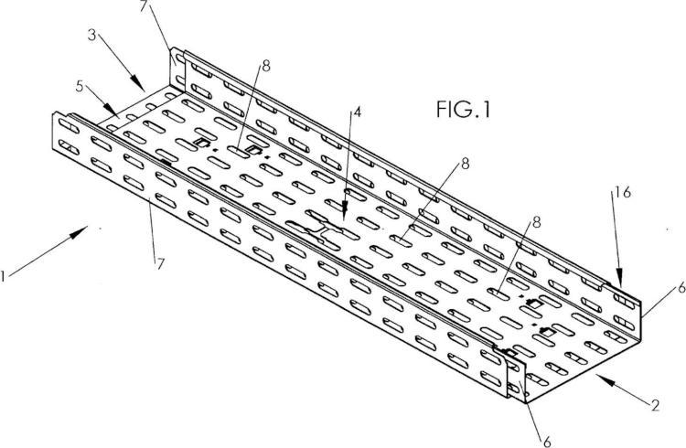 Sistema de bloqueo de dos tramos de carril de cables.