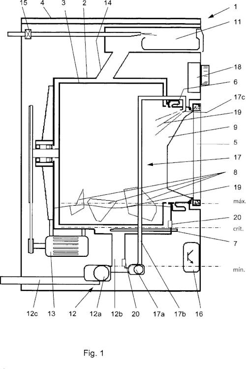 Procedimiento para operar una máquina lavadora y máquina lavadora.