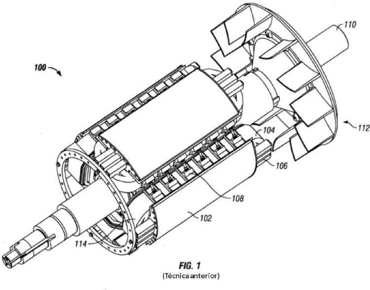 Máquina de polos salientes de alta eficiencia y método para formar la misma.