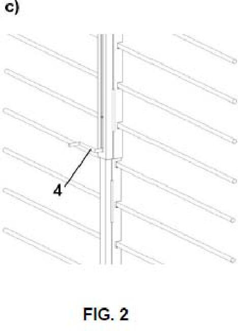 Sistema para colocación de armaduras horizontales.