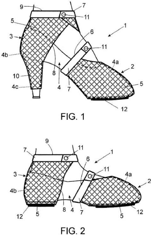 Conjunto preservador para el tacón y la puntera de los zapatos.