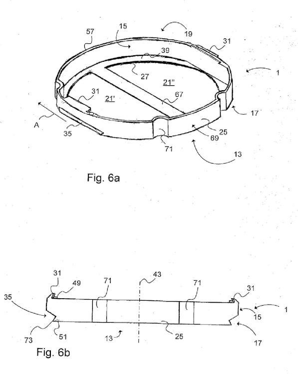 Casete dispuesto para alojar una carga útil de material pirofórico.
