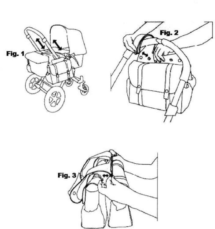 Alforjas para cochecitos de bebé.