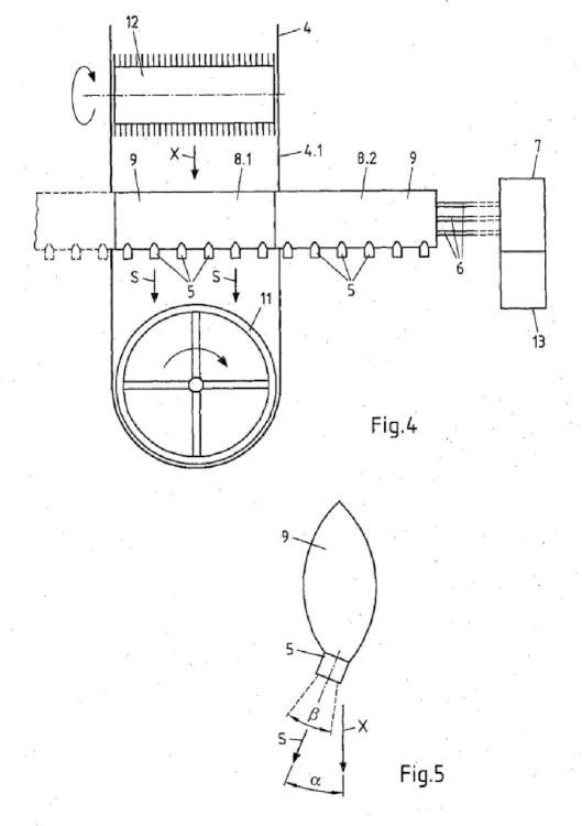 Dispositivo y procedimiento para humectar partículas de madera.
