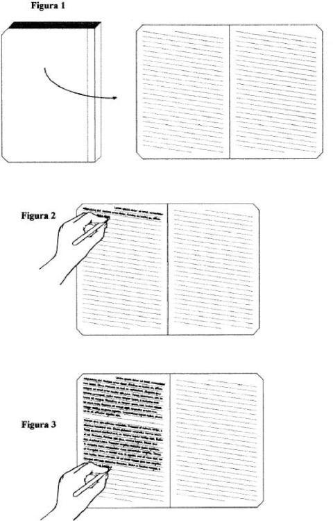 Cuaderno de papel para zurdos.