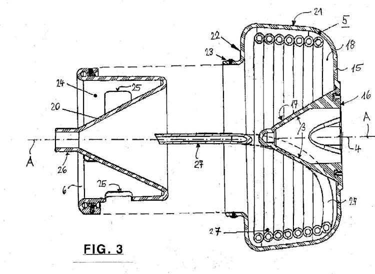 Máquina limpiadora de tubos con un tambor para un eje flexible.