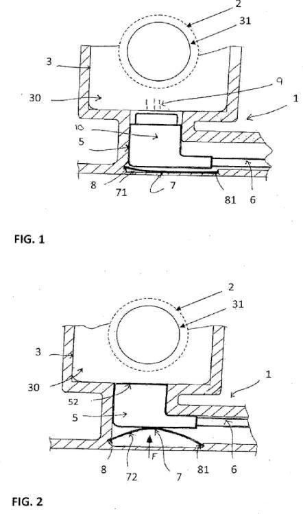 Placa lateral de soporte de un tubo de enrollamiento de una persiana enrollable.