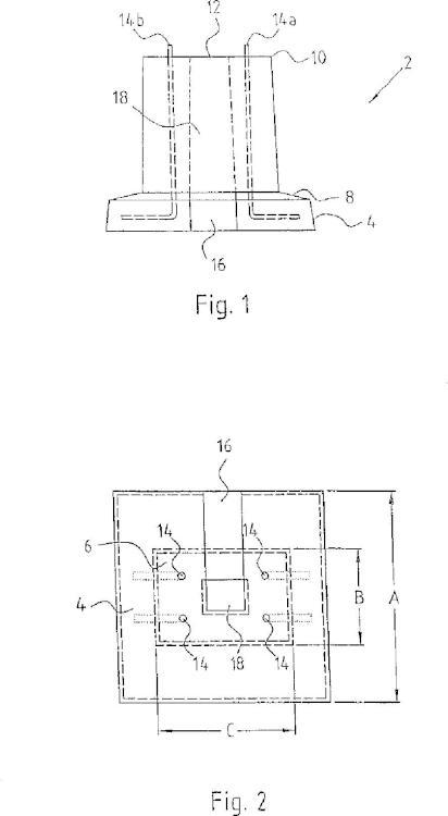 Zócalo de columna de carga para columnas de carga eléctrica.