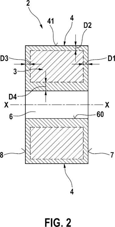 Armadura de electroimán para válvula de inyección.