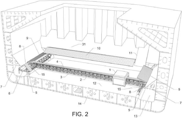 Sistema de auto-descarga de buques graneleros.