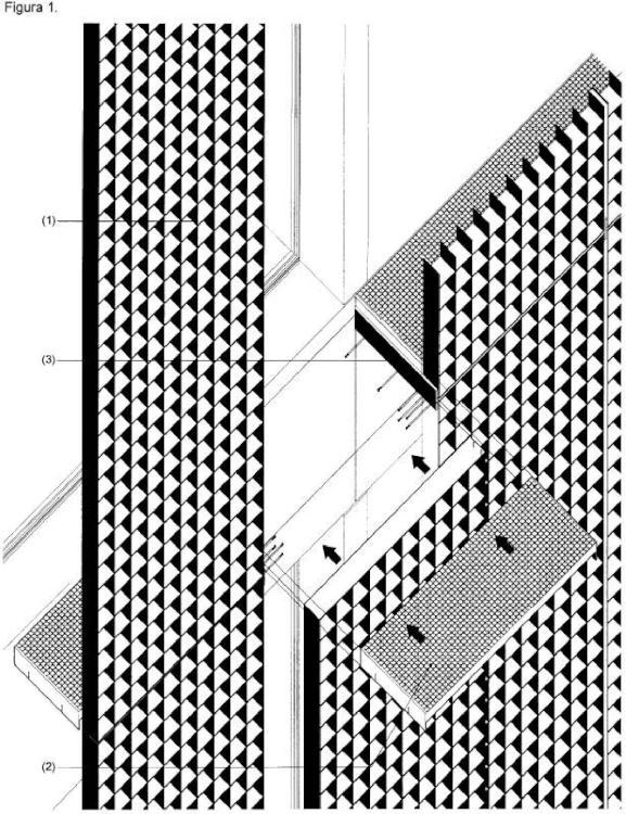 Estructura con celosía metálica antivandálica y de protección solar.