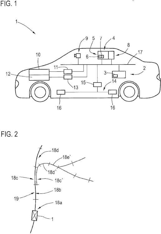 Vehículo de motor comprendiendo un sistema de asistencia al conductor con una instalación de control para la guía longitudinal automática.