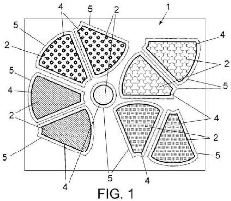 Pieza de tela para trabajos manuales de costura y procedimiento de confección de dichos trabajos con dicha tela.