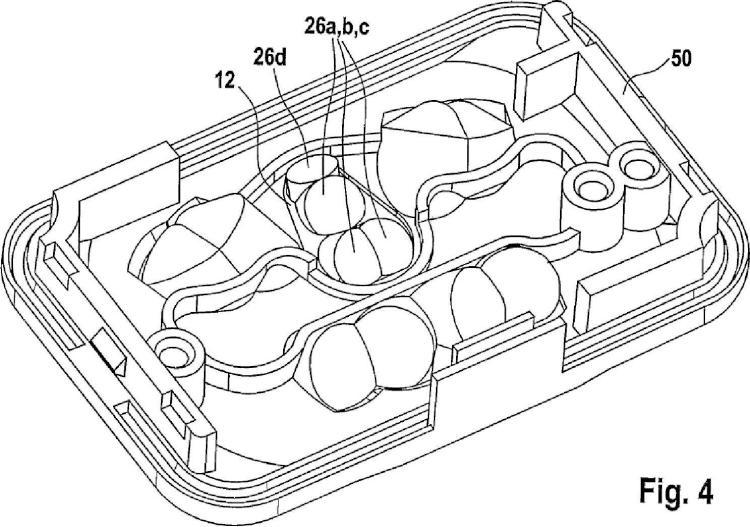 Dispositivo sensor, en especial para un vehículo de motor.