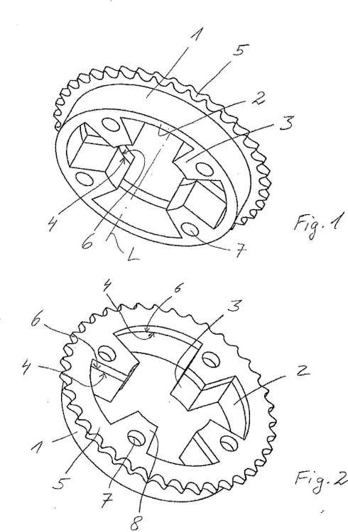 Compuesto sinterizado de rueda dentada y procedimiento para su fabricación.