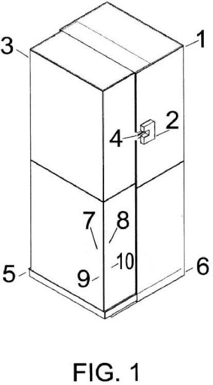 Armario de seguridad giratorio para maquinas recreativas y expendedoras.