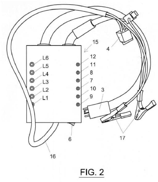 Dispositivo de comprobación de un relé DME.