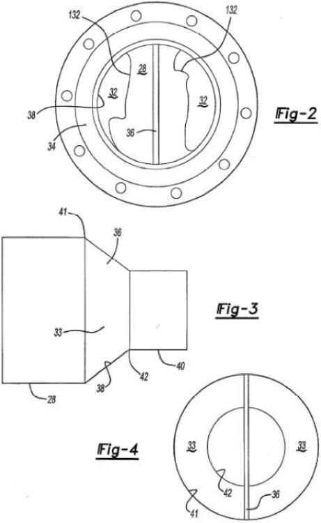 Cámara de descarga de compresor con placa deflectora.