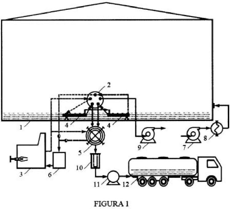 Procedimiento de extracción selectiva de hidrocarburos viscosos remanentes en tanques de almacenamiento.