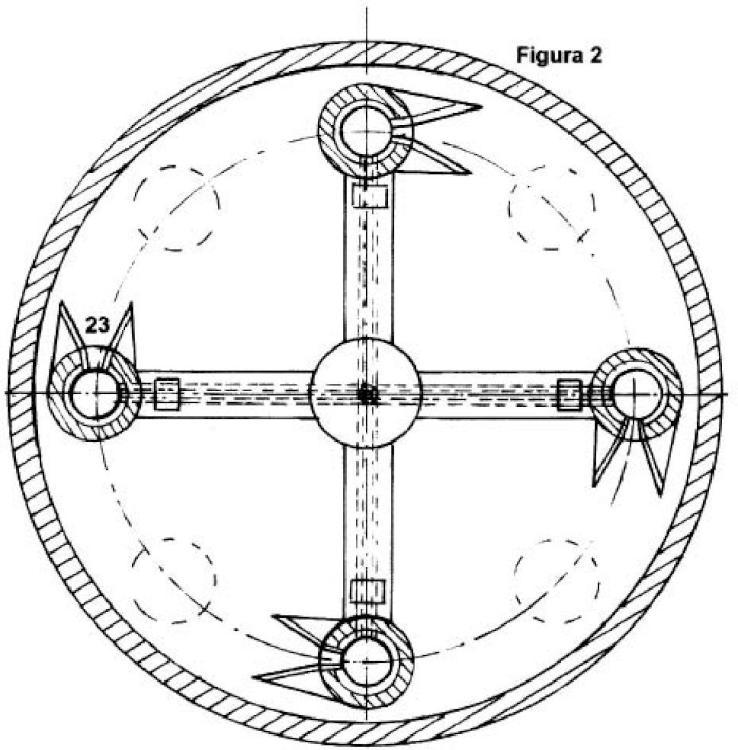 Motor de impulso circular con propulsor cerámico y omnidireccional.
