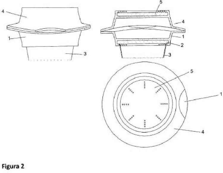Recipiente para el transporte de alimentos apilables y capaz de colocarse en el borde superior de un vaso.
