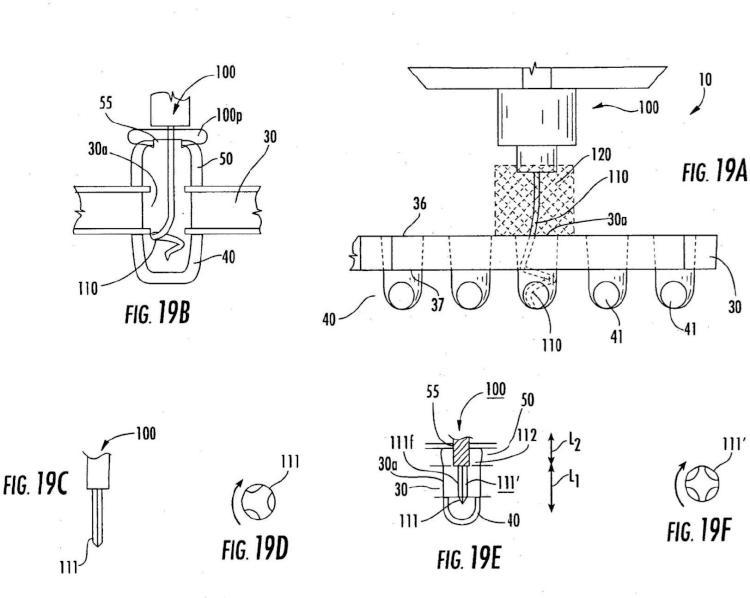 Mecanismos inhaladores con perforadores predispuestos radialmente y métodos relacionados.